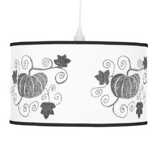 Stippled Pumpkin Pendant Lamp
