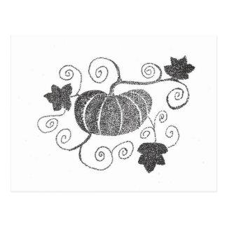 Stippled Pumpkin Postcard