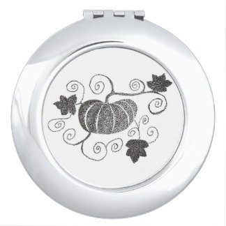Stippled Pumpkin Vanity Mirror