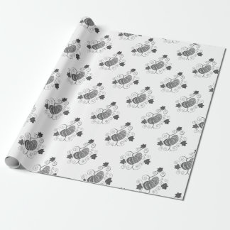 Stippled Pumpkin Wrapping Paper