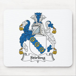 Stirling Family Crest Mouse Pad