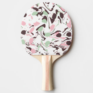 Stirred colors on white Ping-Pong paddle
