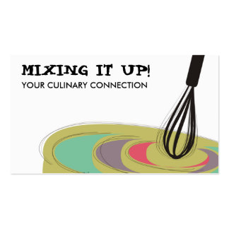 Stirring kitchen whisk cooking baking biz cards business card template