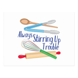 Stirring Up Trouble Postcard