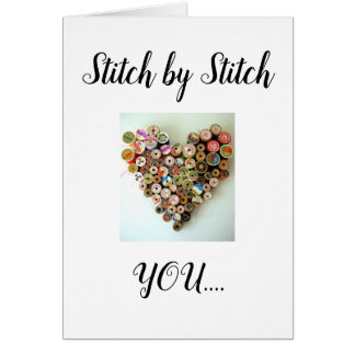 STITCH BY STITCH=U MADE US A PERFECT FIT CARD