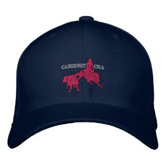 Stitch Cabernet CHA Bleu Marine Casquette Rose Embroidered Hat