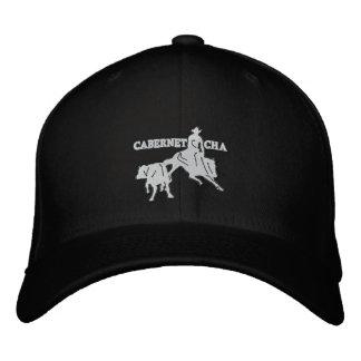 Stitch Cabernet CHA Noir Casquette Blanc Embroidered Hat