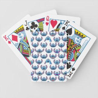 Stitch Emoji Pattern Bicycle Playing Cards