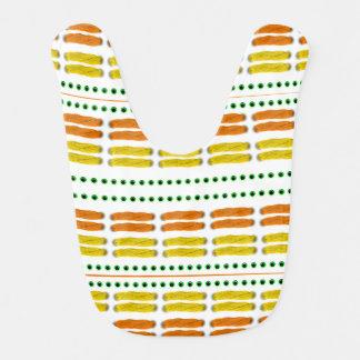Stitch on stitch yellow orange lätzchen