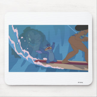 Stitch Surfing Scene Mouse Pad