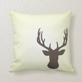 Stitched Antlers Throw Pillow