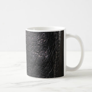 Stitched Black Leather-look Texture-effect Mug