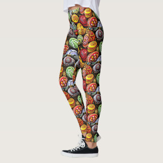 Stitched Easter Eggs Leggings