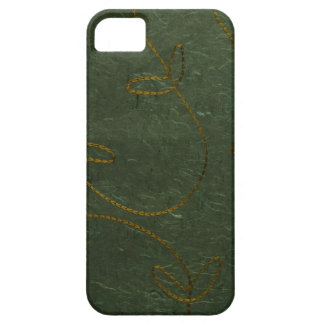 Stitched green recycled paper iPhone 5 covers