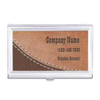 Stitched Leather Interior Design Business Card Holder