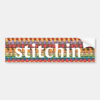 """Stitchin'"" Crochet Bumper Sticker"