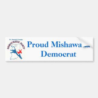 StJoeCountyDemslogo, Proud Mishawaka Democrat Bumper Sticker