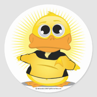 STNG Gold Shirt Duck Classic Round Sticker