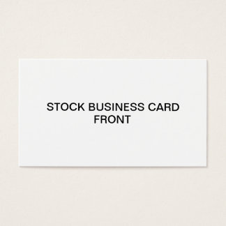 Stock Business Card
