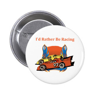 Stock Car Racing 2 Inch Round Button