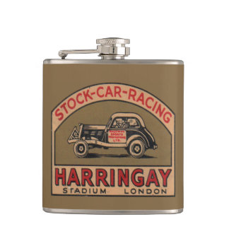 Stock Car Racing Father's Day Flask