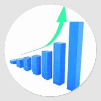 Stock Chart from the Stock Market Round Sticker
