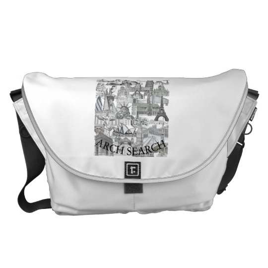 Stock market Arch great Mural Search Messenger Bags