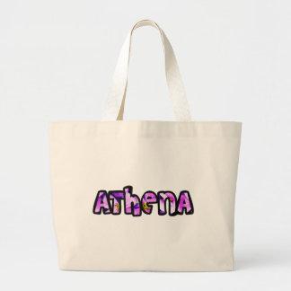 Stock market Athena fabric Large Tote Bag