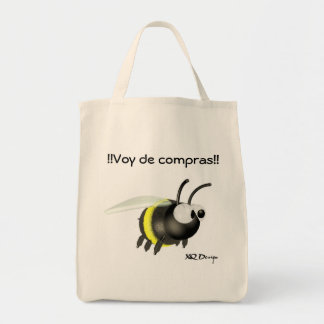 Stock market Bee Fabric Tote Bag