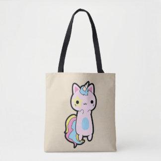Stock market Cat Unicornio Kawaii Tote Bag