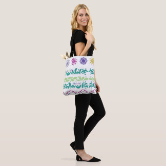Stock market ethnic style tote bag