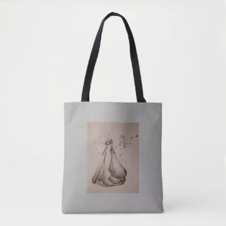 Stock market fashion tote bag