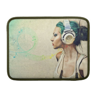 "Stock market for MacBook ""Woman music "" Sleeve For MacBook Air"