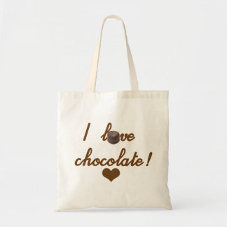 Stock market I Love Chocolate Tote Bag