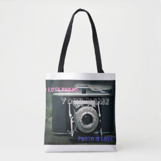 Stock market I LOVE PHOTO PHOTO IS LOVE Tote Bag