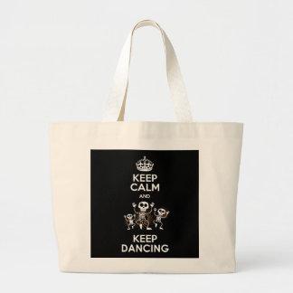 Stock market Keep Calm Large Tote Bag