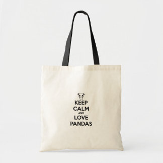 Stock market Keep Calm Panda Tote Bag