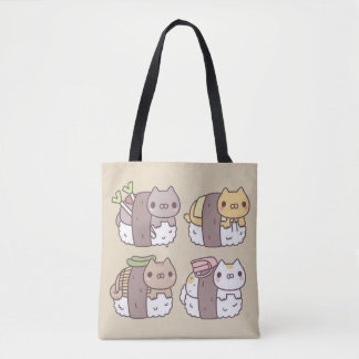 Stock market Kittens Sushi Kawaii Tote Bag