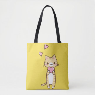 Stock market Loving Cat Tote Bag