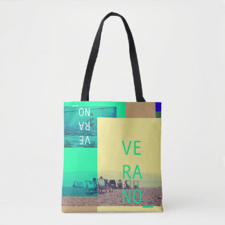 Stock market of summer tote bag