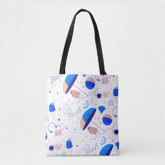 Stock market Tote Branca Amused Praia