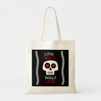 Stock market Tote Love Skulls