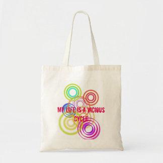 Stock market Vicious Cycle Budget Tote Bag