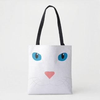 Stock market White Cat Tote Bag