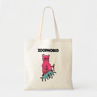 Stock market with comic personage tote bag