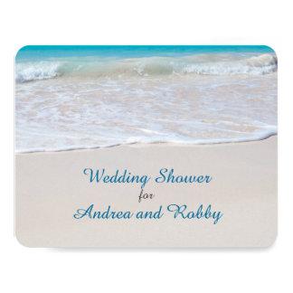 "Stock the Bar Beach Wedding Shower 4.25"" X 5.5"" Invitation Card"