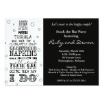 "Stock the Bar Bottle Rhyme Party Invitation- Black 5"" X 7"" Invitation Card"