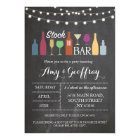 Stock The Bar Chalk Party Engagement Invitation