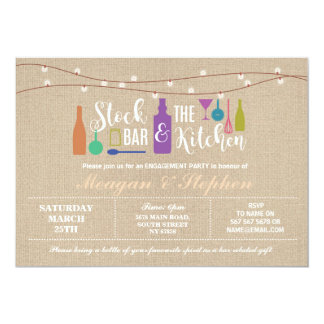 Stock The Bar & Kitchen Engagement Couples ≈ Card