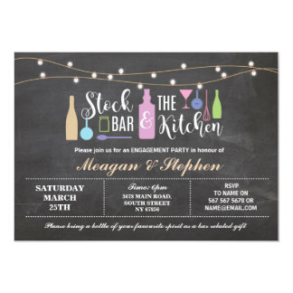 Stock The Bar & Kitchen Engagement Party Couples Card